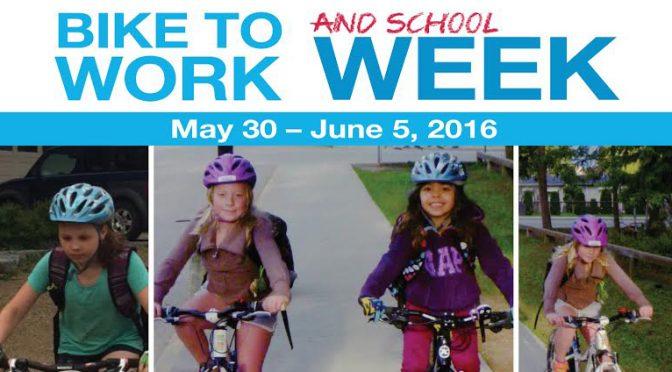 Bike to Work (and School) Week Update